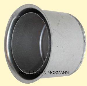 Doppelwandfutter für Ofenrohre mit 0,6 mm Wandstärke im DN 70 mm - 12 cm Länge