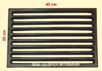 Ofenrost (Tafelrost) Breite 20 x Länge 40 cm