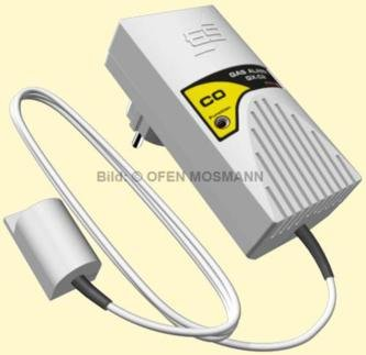 Gasmelder mit externem Sensor für Kohlenmonoxid (CO) und Rauch