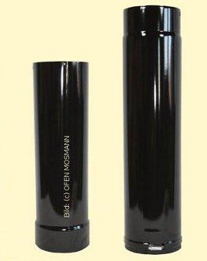 Ofenrohr DN 120 mm schwarz glänzend emailliert Ofenrohr verstellbar von 1,00 m bis 1,30 m
