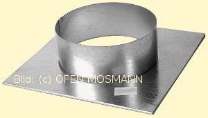 Lüftungsgitter Stutzenblech 35 cm x 23 cm mit Anschlussstutzen rund 160 mm Marke CB-tec