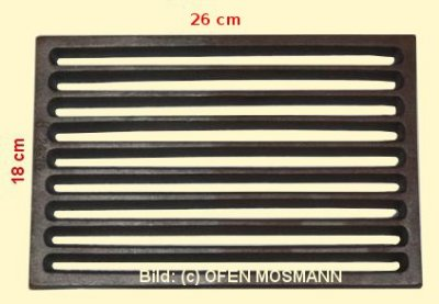 Ofenrost (Tafelrost) Breite 18 x Länge 26 cm