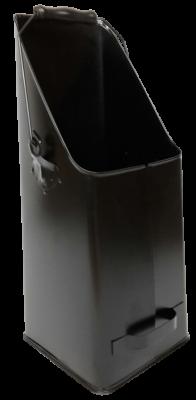 Kohleschütter schwarz 20 x 18,5 x 47,5 cm glatt