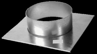 Lüftungsgitter Stutzenblech 25 cm x 15 cm mit Anschlussstutzen rund DN 100 mm Marke CB-tec