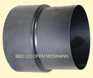 Ofenrohr Reduzierung gebläut DN 150 mm weit - 120 mm eng