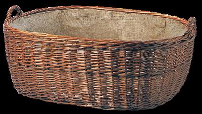 Weidenkorb oval mit Jute-Einlage