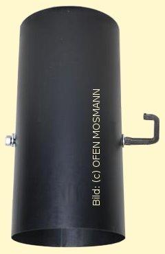 Ofenrohre DN 130 mm gebläutes Ofenrohr 0,25 m Länge mit Drosselklappe