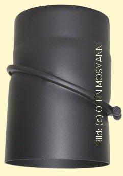 Ofenrohr Kaminofen DN 120 mm Bogen 0-45° ohne Tür gussgrau #288