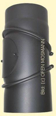 Ofenrohr Kaminofen DN 200 mm Bogen 0-90° mit Tür gussgrau #288