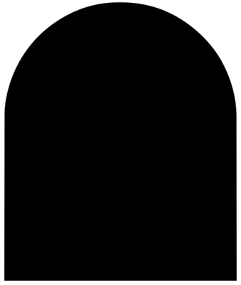 Bodenplatte B3 Stahlblech 1,5 mm Stärke. 1000 x 1200 mm halbrund, schwarz / gussgrau groß