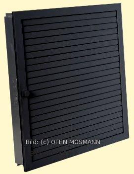 Revisionsgitter für Kamin Ofen Kachelofen schwarz 45 cm x 45 cm Lamellen verstellbar Marke CB-tec