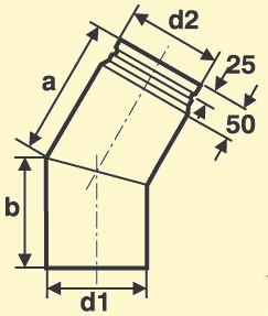 Pelletofenrohr Bogen 30°