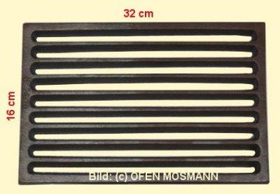 Ofenrost (Tafelrost) Breite 16 x Länge 32 cm