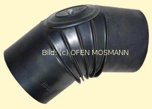 Ofenrohre DN 130 mm gebläutes Ofenrohr Bogen gerippt 45° mit Tür