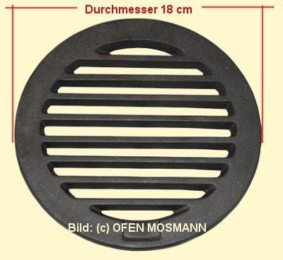 Ofenrost (Rundrost) Durchmesser 18 cm