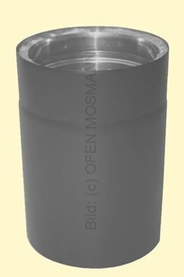 Doppelwandiges Ofenrohr Isoline DN 150 mm Länge 0,15 m gussgrau #288