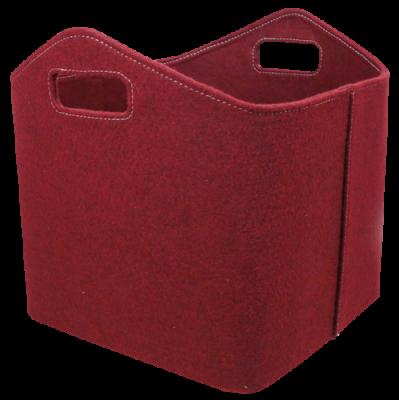 Allzweckkorb aus Filz - rechteckig - rot