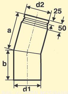 Pelletofenrohr Bogen 15°