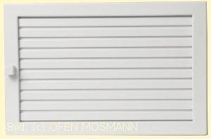 Lüftungsgitter Warmluft 20x15 weiß Lamellen verstellbar Marke CB-tec