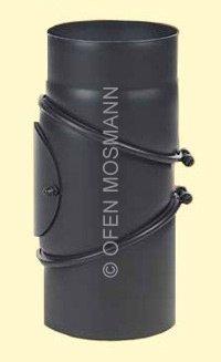 Ofenrohr DN 180 mm Bogen 0-90° mit Tür 2 mm Stahl schutzlackiert (nicht kratzerfrei)