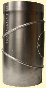 Ofenrohr DN 300 mm Bogen Knie 0-90° mit Tür 2 mm Stahl gemufft unlackiert
