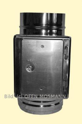Kaminerhöhung Edelstahl DN 160 mm Reinigungs- & Prüföffnung eckig