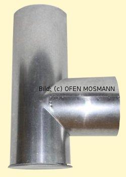 Ofenrohre DN 120 mm FAL Kapselknie 0,33 m Länge