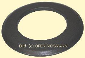 Ofenrohr für Pelletofen DN 100 mm Wand-Rosette (3) grau emailliert