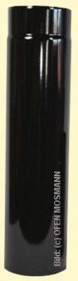 Ofenrohr DN 130 mm schwarz glänzend emailliert 1,00 m Länge hq