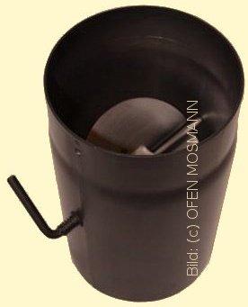 Ofenrohr Kaminofen DN 150 mm 0,25 m Länge mit Drosselklappe braun #847