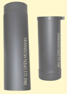 Ofenrohr Kaminofen DN 130 mm verstellbar von 0,75 bis 1,05 m gussgrau #288