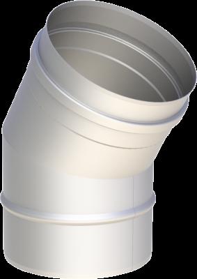 Edelstahlschornstein EW 150 mm x 0,6 mm Bogen 30 Grad