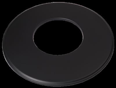 Ofenrohr Kaminofen DN 200 mm Wandrosette (9) schwarz #310