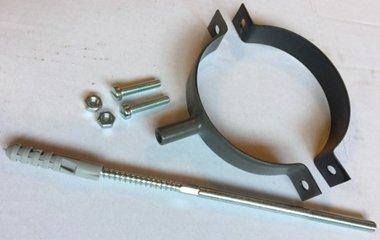 Ofenrohr für Pelletofen DN 80 mm Wandhalterung