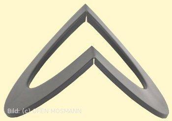 Ofenrohr Kaminofen DN 150 mm Eck-Wandrosette (5) für Außenecke gussgrau hell #820