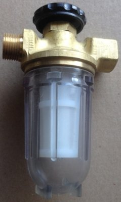 Heizölfilter mit Absperrung, einstrangig für ZÖV