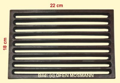 Ofenrost (Tafelrost) Breite 18 x Länge 22 cm