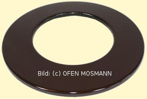 Ofenrohr DN 130 mm braun emailliert Wand Rosette hq