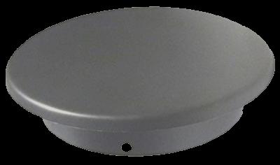 Ofenrohr Blinddeckel DN 160 mm gussgrau #288
