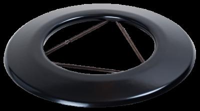 Ofenrohr für Pelletofen DN 80 mm Wandrosette mattschwarz emailliert