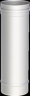 Edelstahlschornstein EW 200 mm x 0,6 mm Kaminrohr 0,50 m Länge
