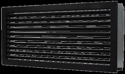 Lüftungsgitter Kaltluft 35 x 15 cm schwarz Lamellen feststehend Marke CB-tec