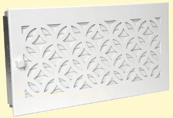 Lüftungsgitter weiß 45 cm x 23 cm Design Warmluftgitter D1 Lamellen verstellbar Marke CB-tec