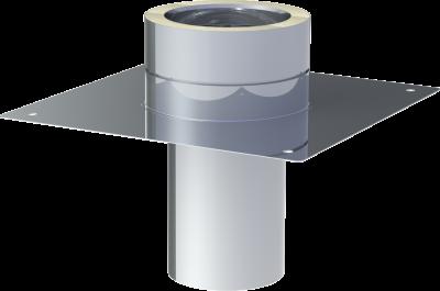 DW ECO 2.0 Edelstahlschornstein DN 180 mm Grundplatte für Kaminerhöhung