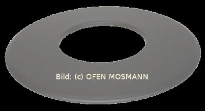 Ofenrohr für Pelletofen DN 100 mm Wand-Rosette (9) grau emailliert