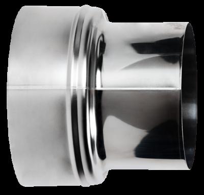 Reduzierung für Ofenrohre aus Edelstahl von DN 180 auf 150 mm