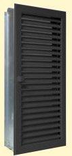 Lüftungsgitter Warmluft hochkant 15 x 35 cm schwarz Lamellen verstellbar Marke CB-tec