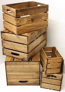 Dekorative Holzkisten Set 5-teilig