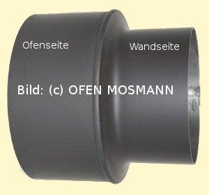 Ofenrohr Kaminofen Reduzierung von DN 160 auf 150 mm gussgrau #288