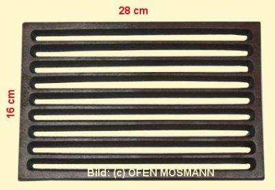 Ofenrost (Tafelrost) Breite 16 x Länge 28 cm